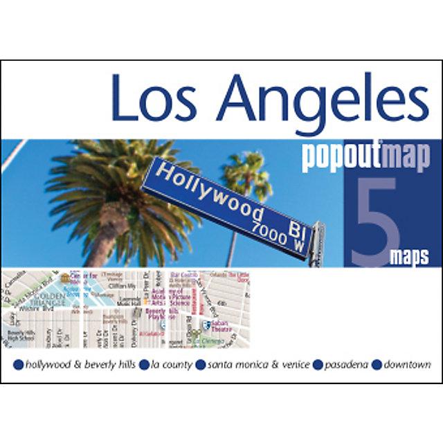 Los Angeles PopOut Map, 2 maps Buch versandkostenfrei bei ...