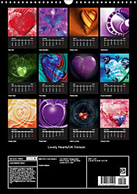 Lovely Hearts/UK Version (Wall Calendar 2019 DIN A3 Portrait) - Produktdetailbild 13