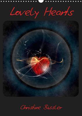 Lovely Hearts/UK Version (Wall Calendar 2019 DIN A3 Portrait), Christine Bässler