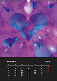 Lovely Hearts/UK Version (Wall Calendar 2019 DIN A3 Portrait) - Produktdetailbild 2
