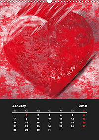 Lovely Hearts/UK Version (Wall Calendar 2019 DIN A3 Portrait) - Produktdetailbild 1