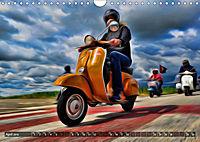 Low-angle shots of scooters (Wall Calendar 2019 DIN A4 Landscape) - Produktdetailbild 4
