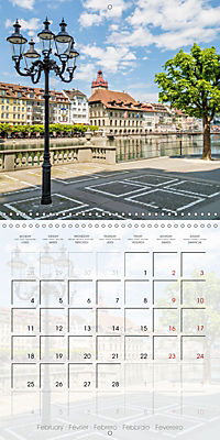 LUCERNE Lovely Switzerland (Wall Calendar 2019 300 × 300 mm Square) - Produktdetailbild 2