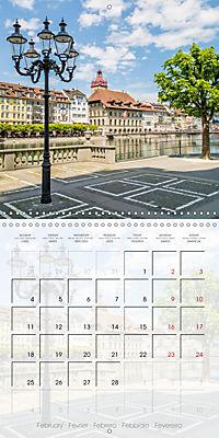 LUCERNE Lovely Switzerland (Wall Calendar 2019 300 × 300 mm Square) - Produktdetailbild 2