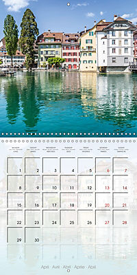LUCERNE Lovely Switzerland (Wall Calendar 2019 300 × 300 mm Square) - Produktdetailbild 4