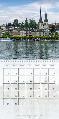 LUCERNE Lovely Switzerland (Wall Calendar 2019 300 × 300 mm Square) - Produktdetailbild 7