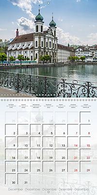 LUCERNE Lovely Switzerland (Wall Calendar 2019 300 × 300 mm Square) - Produktdetailbild 12