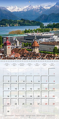 LUCERNE Lovely Switzerland (Wall Calendar 2019 300 × 300 mm Square) - Produktdetailbild 9