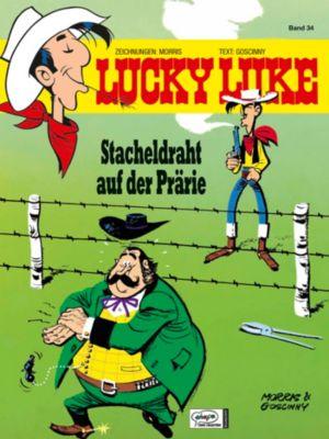 Lucky Luke Band 34: Stacheldraht auf der Prärie, Morris, René Goscinny