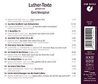 Luther-Texte Gelesen Von Gert Westphal - Produktdetailbild 1