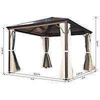 Luxus Pavillon mit lichtdurchlässigem Dach - Produktdetailbild 4