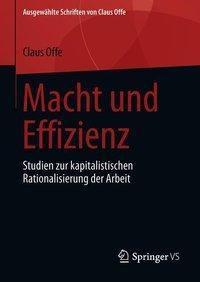 Macht und Effizienz, Claus Offe