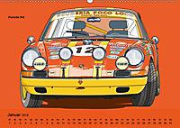 Made in Germany - Illustrationen deutscher Oldtimer (Wandkalender 2019 DIN A2 quer) - Produktdetailbild 1