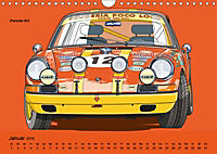 Made in Germany - Illustrationen deutscher Oldtimer (Wandkalender 2019 DIN A4 quer) - Produktdetailbild 1
