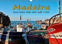 Madeira - blaues Wasser, grüne Berge, bunte Blumen (Wandkalender 2019 DIN A3 quer), Peter Roder