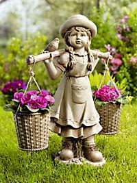 Mädchen-Figur mit Blumentöpfen - Produktdetailbild 1