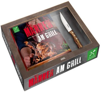 Männer am Grill - Das Buch, das Mann braucht!, mit Tramontina-Steakmesser - Oliver Sievers |