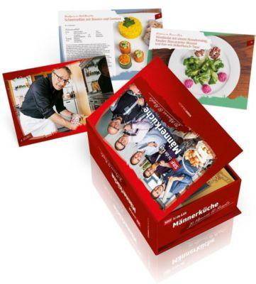 Männerküche Postkartenbox