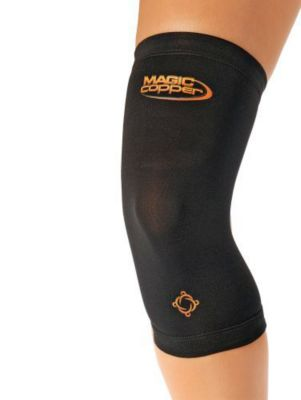 Magic Copper Knie-Bandage schwarz, Gr. M