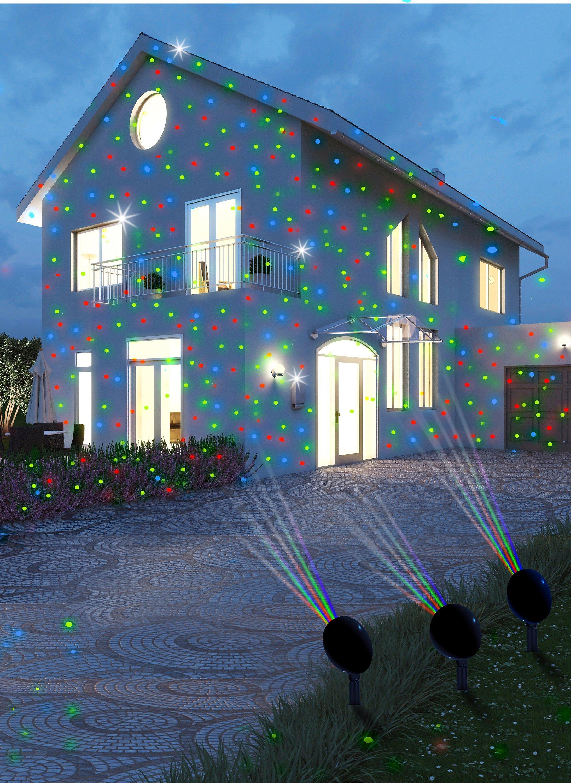 Led Weihnachtsbeleuchtung Strahler.Magic Vision Multicolor Led Strahler 3er Set Weltbild De