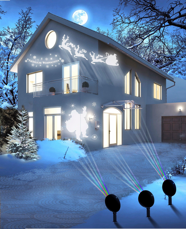 Weihnachtsbeleuchtung Aussen Motive.Magic Vision X Mas Motiv Led Strahler 3er Set Weltbild De