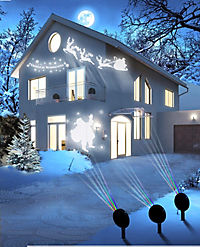 Magic Vision X-Mas-Motiv-LED Strahler 3er-Set - Produktdetailbild 1