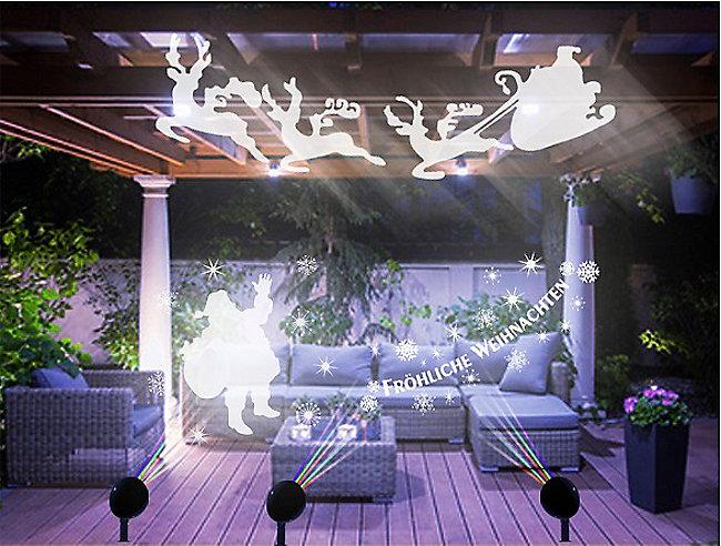 Led Weihnachtsbeleuchtung Strahler.Magic Vision X Mas Motiv Led Strahler 3er Set Weltbild De