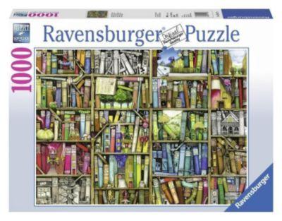 Magisches Bücherregal. Puzzle 1000 Teile