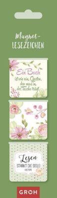 Magnetlesezeichen -  Ein Buch ist wie ein Garten, den man in der Tasche trägt.