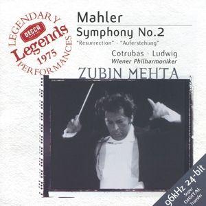 Mahler: Symphony No.2, Ludwig, Cotrubas, Zubin Mehta, Wp
