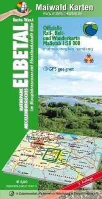 Maiwald Karte Elbetal West Offizielle Rad-, Reit- und Wanderkarte 1 : 50.000