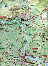 Maiwald Karte Elbetal West Offizielle Rad-, Reit- und Wanderkarte 1 : 50.000 - Produktdetailbild 1