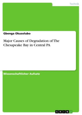 Major Causes of Degradation of The Chesapeake Bay in Central PA, Gbenga Okusolubo
