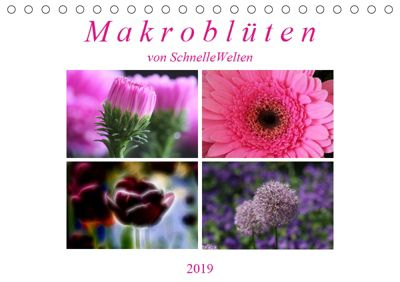Makroblüten (Tischkalender 2019 DIN A5 quer), SchnelleWelten