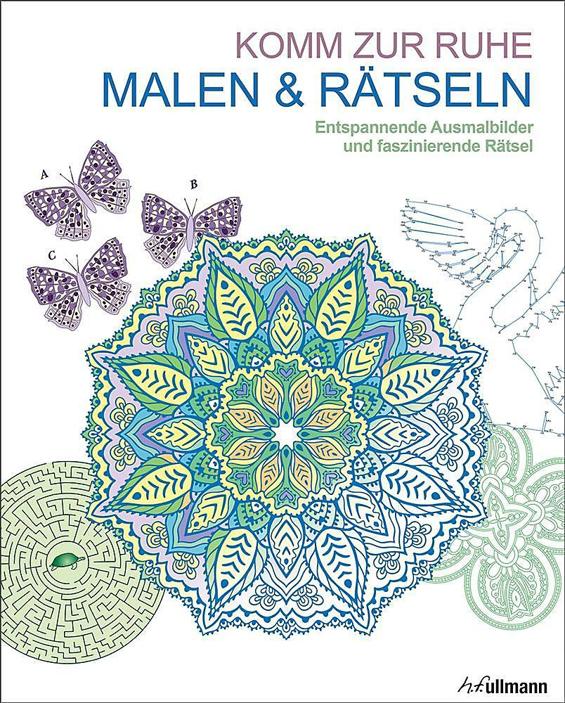 Malbuch Für Erwachsene Malen Rätseln Komm Zur Ruhe Buch