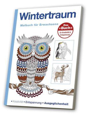 Malbuch für Erwachsene - Wintertraum