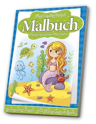 Malbuch für Kinder: Meerjungfrauen & Meerestiere