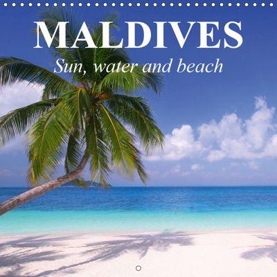 Maldives - Sun, water and beach (Wall Calendar 2019 300 × 300 mm Square), Elisabeth Stanzer