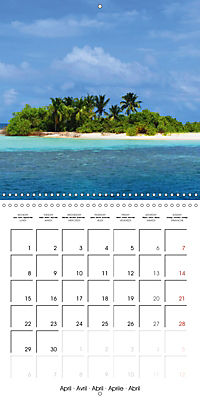 Maldives - Sun, water and beach (Wall Calendar 2019 300 × 300 mm Square) - Produktdetailbild 4