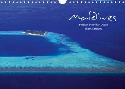 MALDIVES - UK Version (Wall Calendar 2019 DIN A4 Landscape), Thomas Herzog