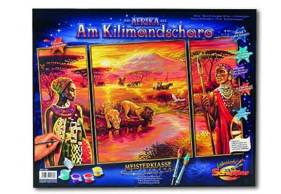 Malen nach Zahlen Afrika am Kilimandscharo