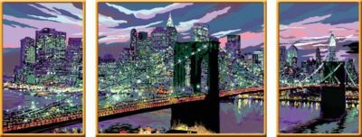 Malen nach Zahlen - Jeder kann malen (Mal-Sets), dreiteilige Maltafel: Skyline von New York