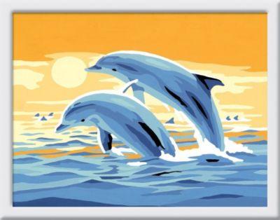Malen nach Zahlen - Jeder kann malen (Mal-Sets), Bildgröße: 13 x 18 cm: Freunde des Meeres