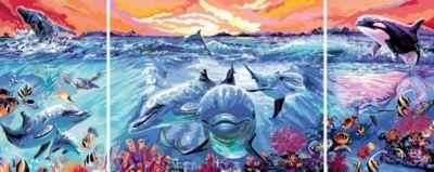 Malen nach Zahlen - Jeder kann malen (Mal-Sets): Farbenfrohe Unterwasserwelt