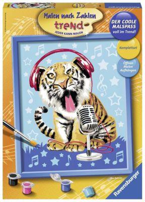 Malen nach Zahlen - Jeder kann malen (Mal-Sets), Bildgröße: 24 x 30 cm: Singing Tiger