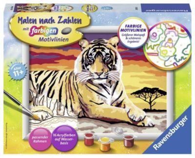 Malen nach Zahlen. Majestätischer Tiger