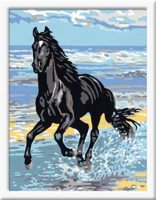 MALEN NACH ZAHLEN Pferd am Strand Classic Pferde