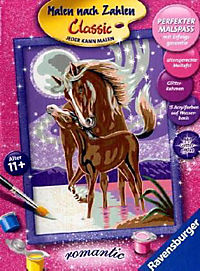 """Malen nach Zahlen - Romantik """"Pferdegeflüster"""" - Produktdetailbild 1"""