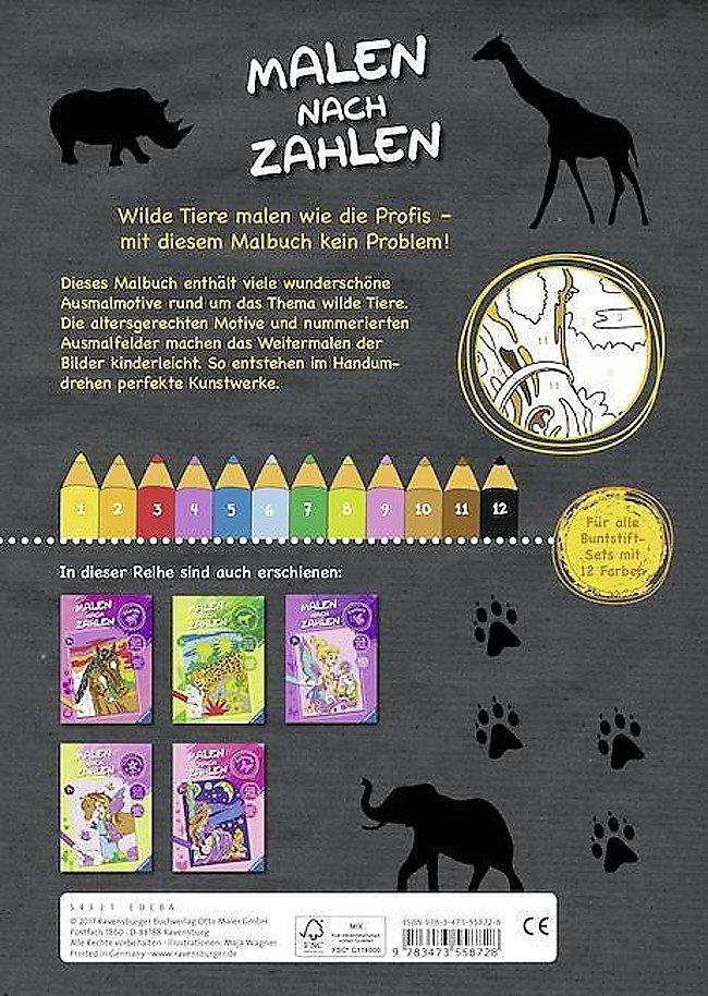 Malen Nach Zahlen Wilde Tiere Buch Bei Weltbild De Bestellen