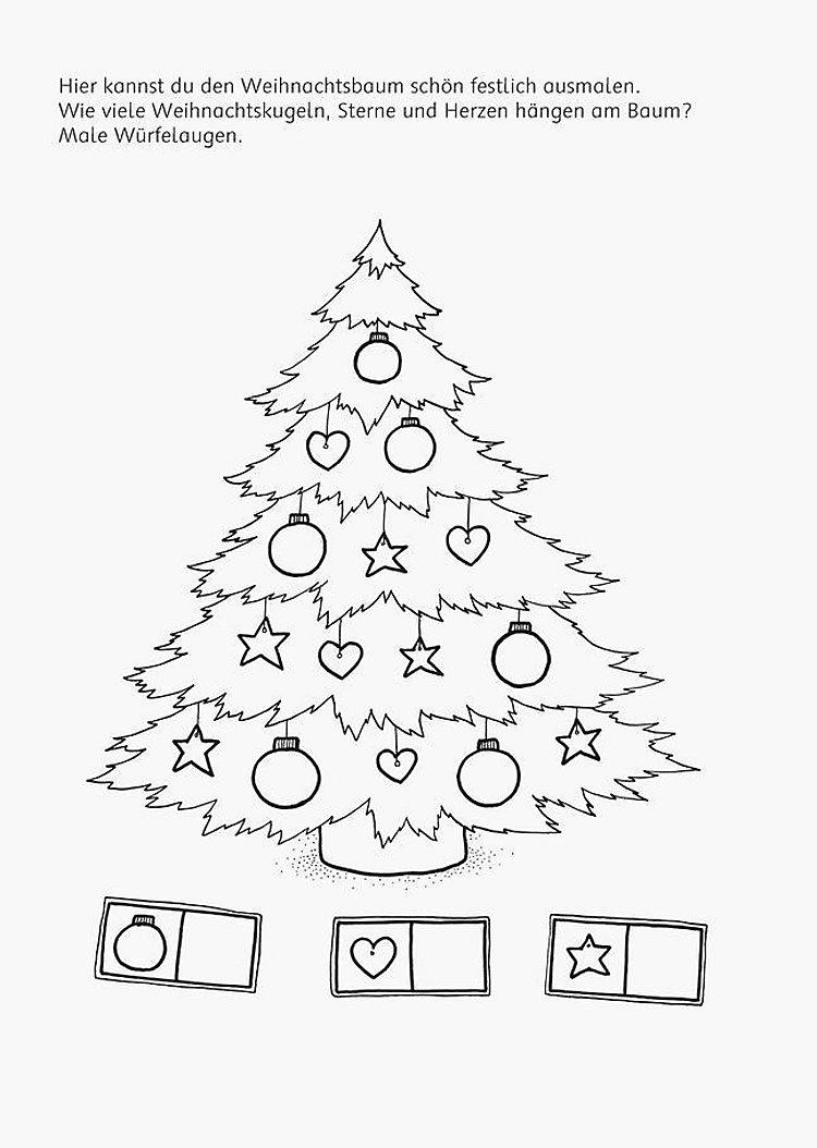 bild zu weihnachten malen  test